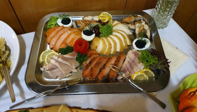Chafing-Dish mit Fisch