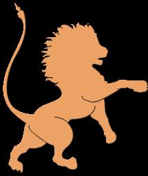nach rechts blickender Löwe